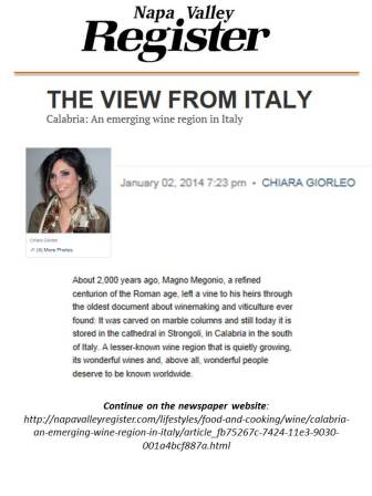 chiara giorleo: italian contributor for napa valley register