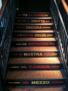 divina commedia on the stair -eataly NYC