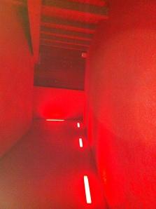 una delle aree si illumina di rosso al passaggio