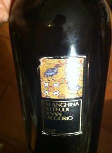 "Feudi di San Gregorio ""falanghina 2007"", the bottle"