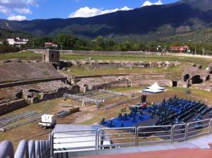 The amphitheater in Avella town-Campania region, southern Italy