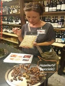 hazelnuts presented by Silvia